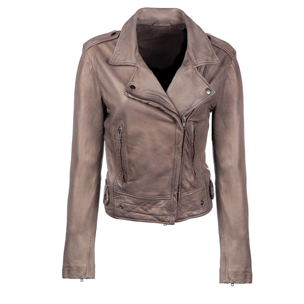 Ryder Metallic Leather Jacket