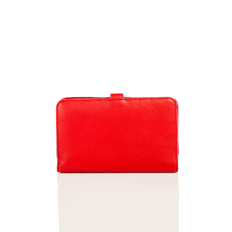 Linea Pelle M Wallet in Red