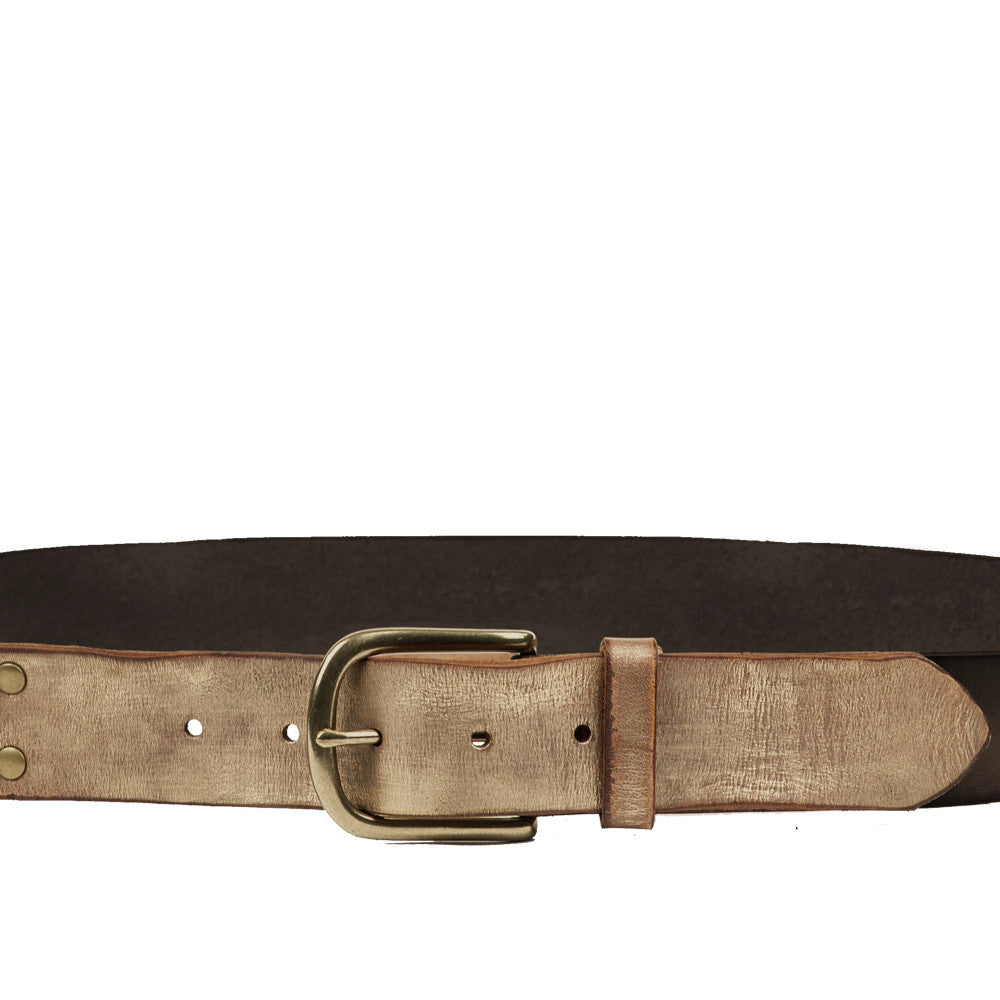 Linea Pelle Color Block Hip Belt in Olive