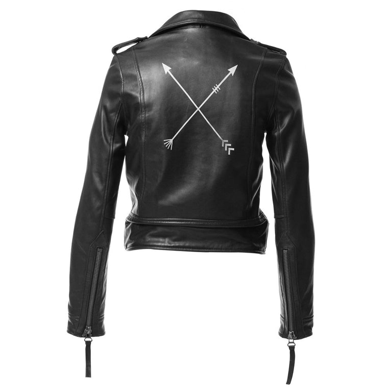 Linea Pelle Arrow Moto Leather Jacket