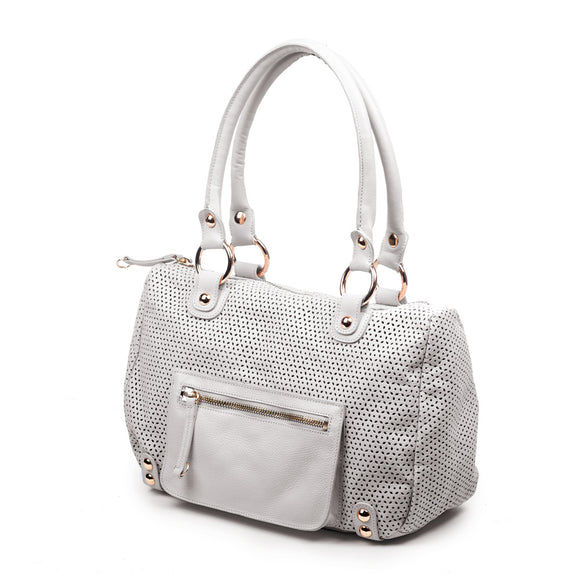 Dylan Perforated Satchel
