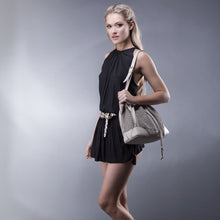 Load image into Gallery viewer, Linea Pelle Preston Bucket Bag in Bone
