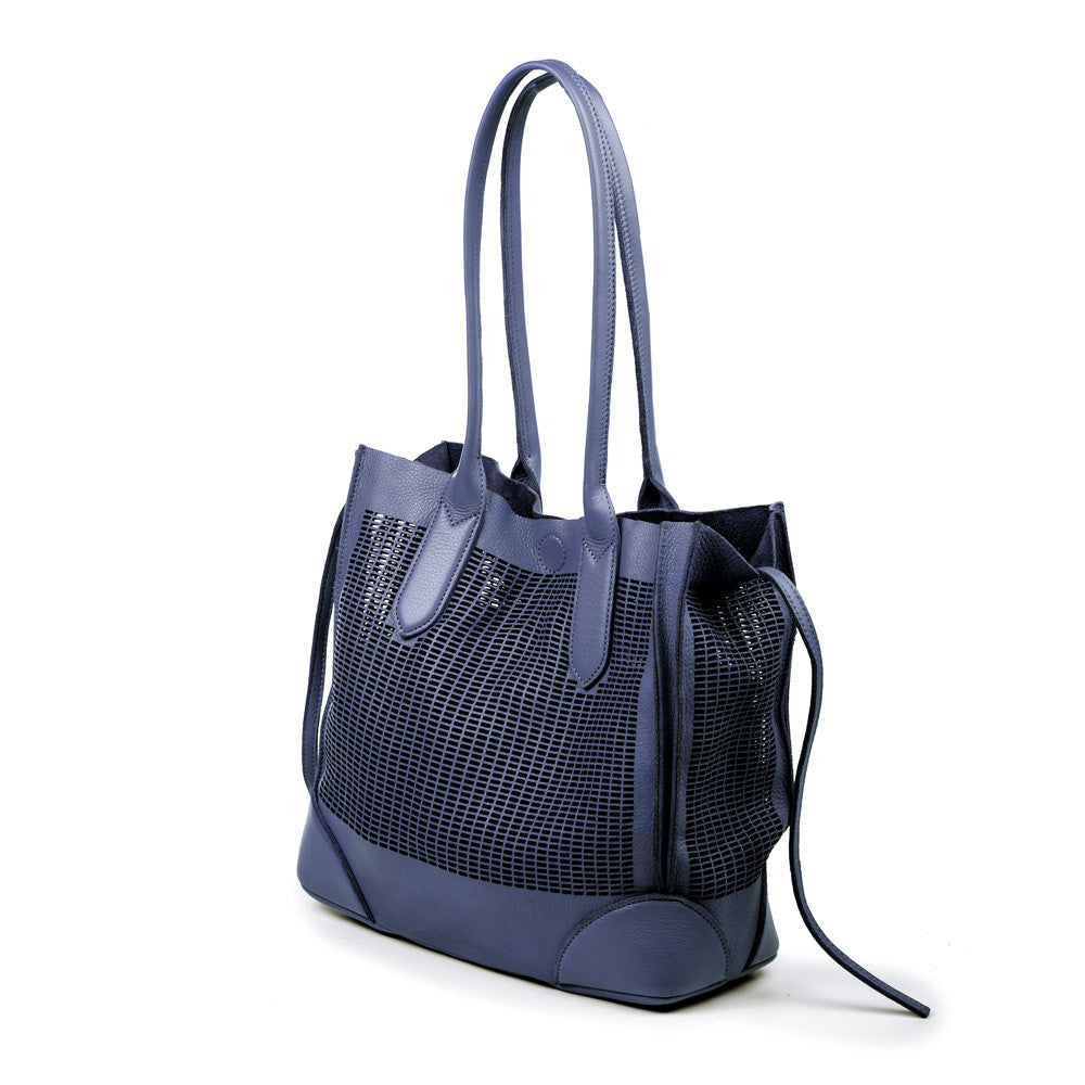 Linea Pelle Preston Tote Bag in Navy