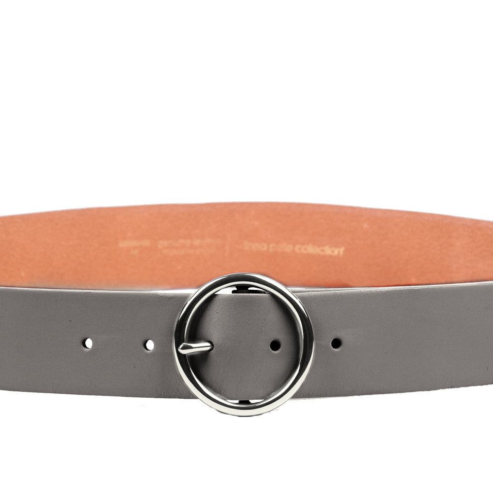 Linea Pelle Round Buckle Hip Belt in Smog