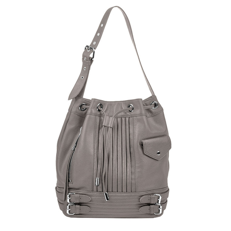 Linea Pelle Rowan Bucket Bag in Smoke