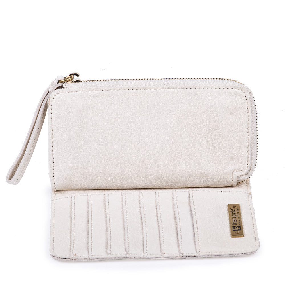 Linea Pelle Snap Wallet in Stone
