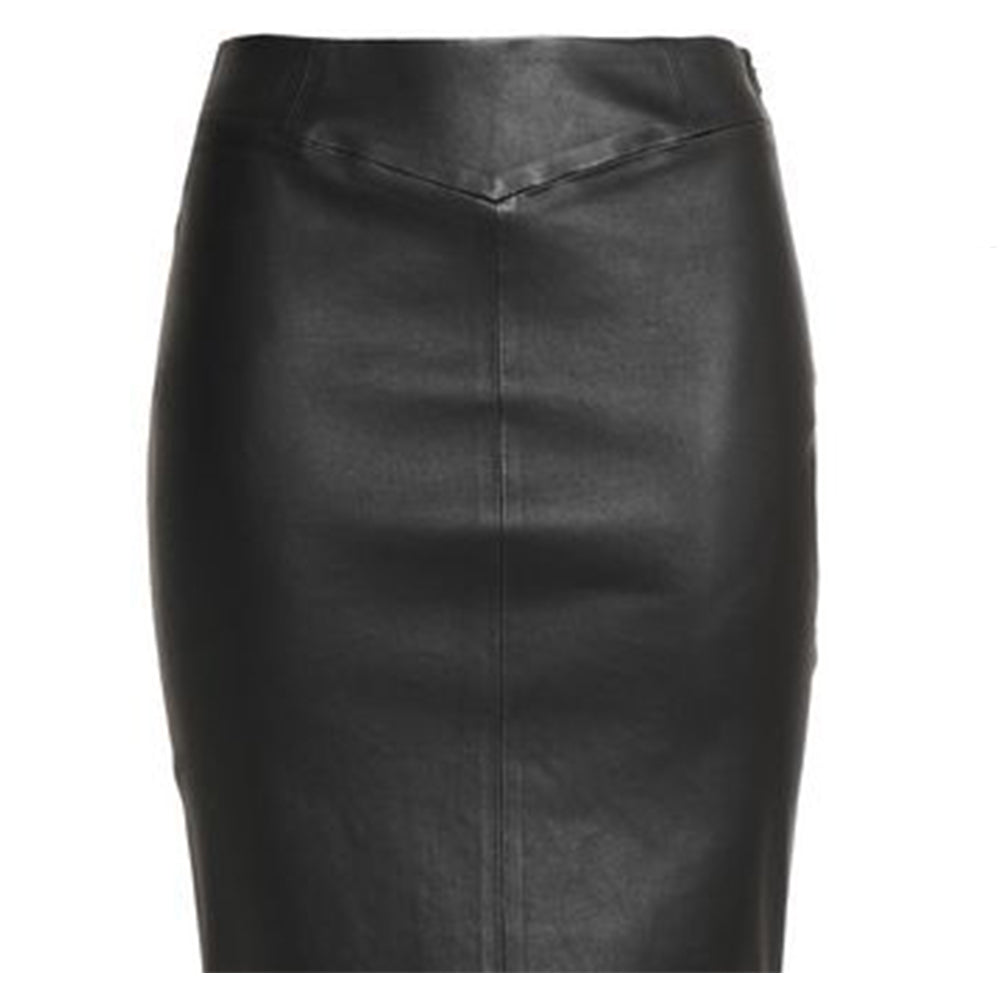 The Skirt | Stretch Leather