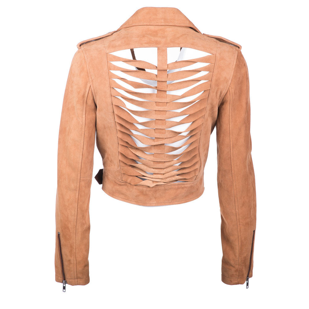 Sliced Moto Crop Jacket