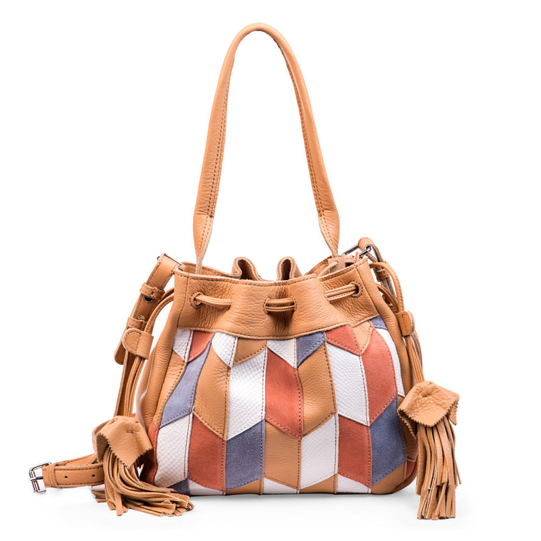 Linea Pelle Spence Bucket Bag in Patchwork