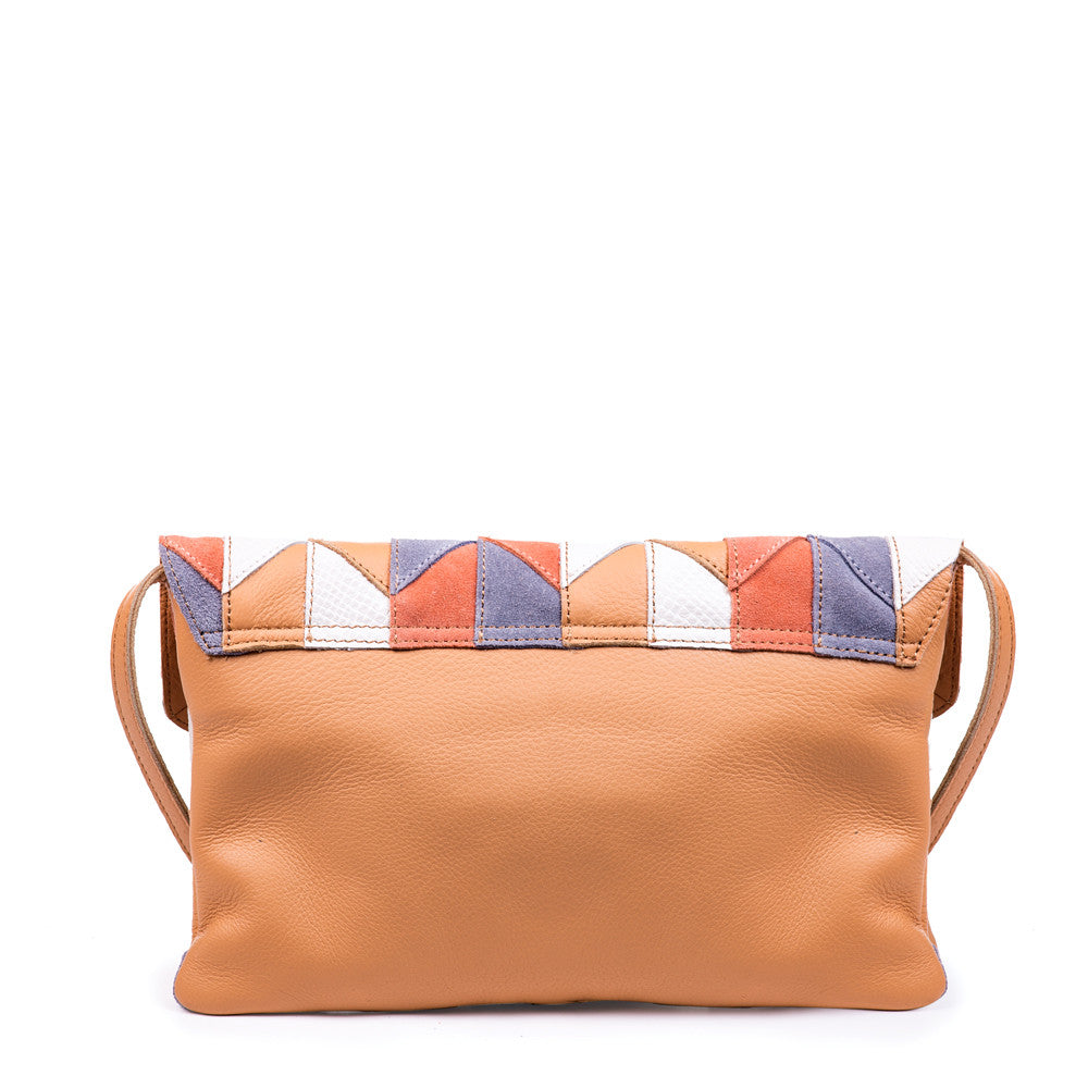Linea Pelle Spence Clutch in Patchwork