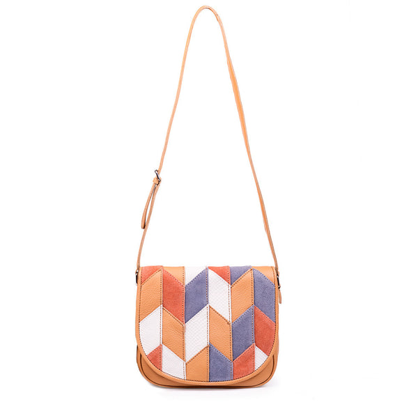 Linea Pelle Spence Saddle Bag in Patchwork