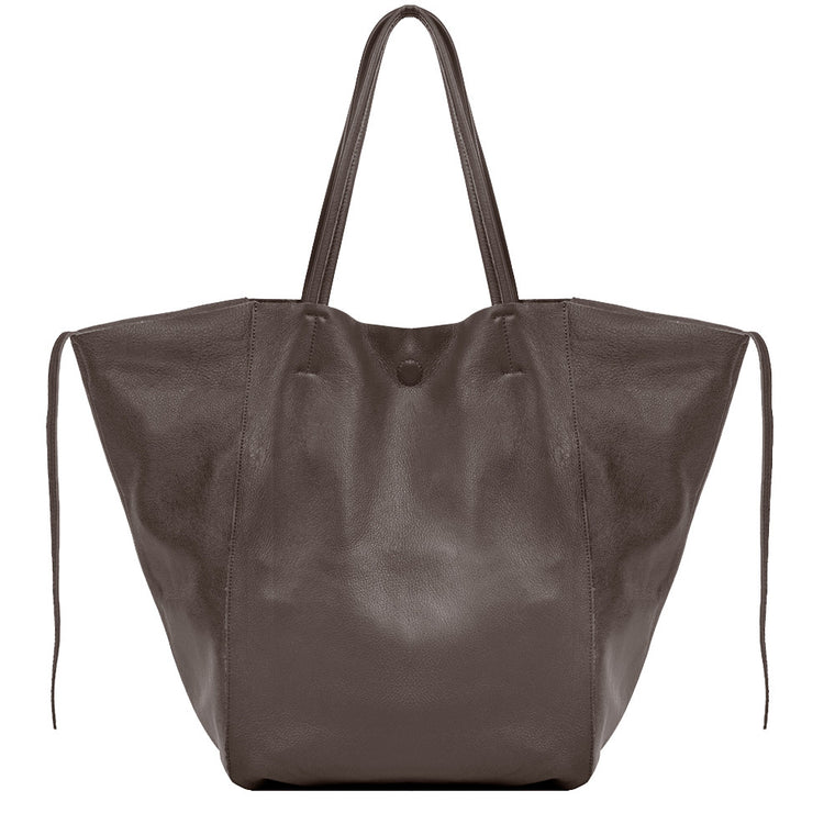 Linea Pelle Sybil Tote in Dark Brown
