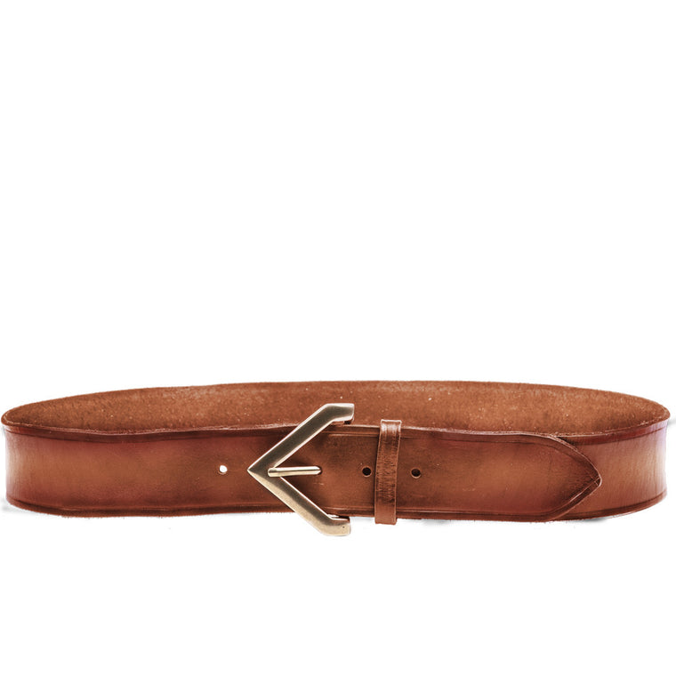 Linea Pelle Triangle Buckle Hip Belt in Cognac