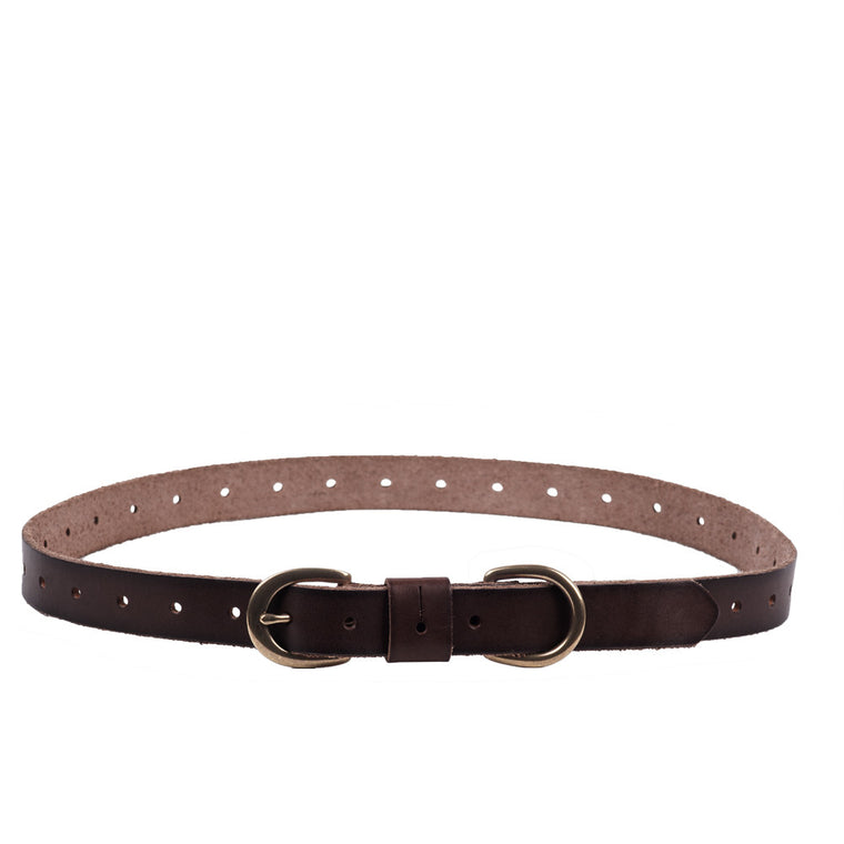 Linea Pelle Double Ring Belt in Tmoro