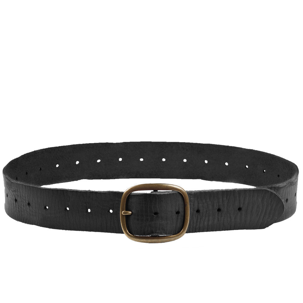 Linea Pelle Perforated Belt in Black