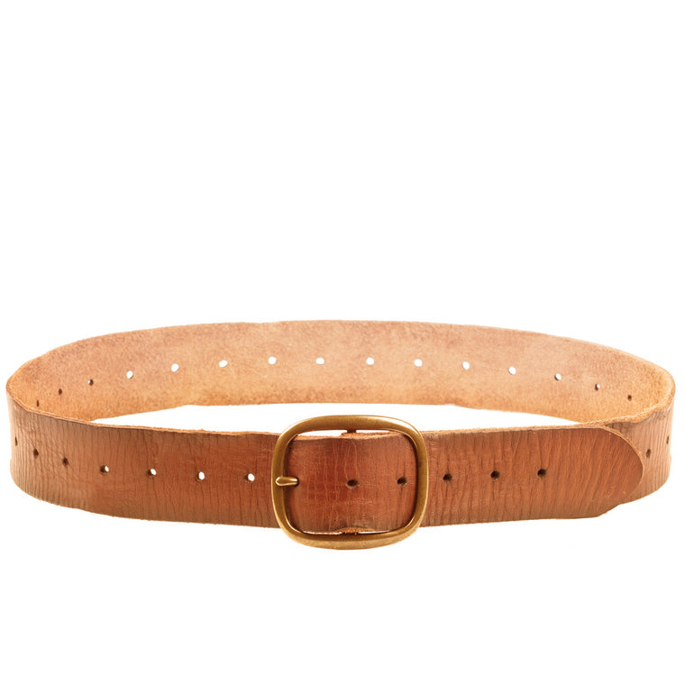 Linea Pelle Perforated Belt in Cognac