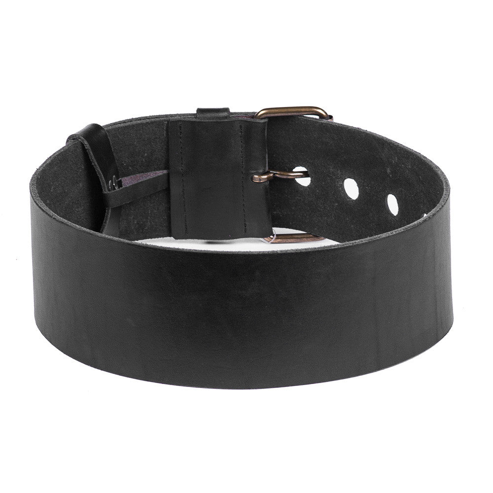 Linea Pelle Wide Waist Belt in Black