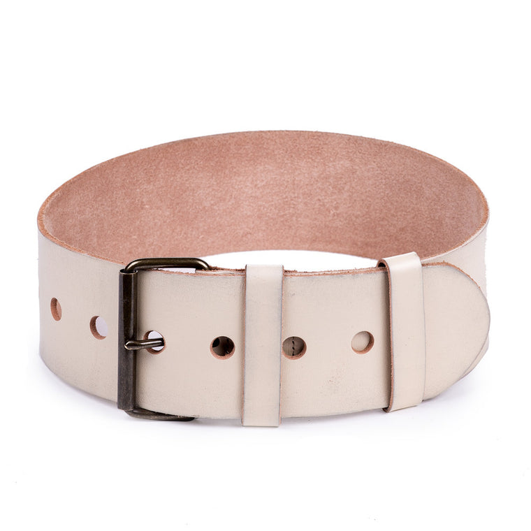 Linea Pelle Wide Waist Belt in Bone