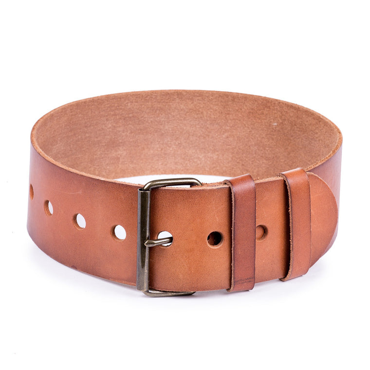 Linea Pelle Wide Waist Belt in Cognac