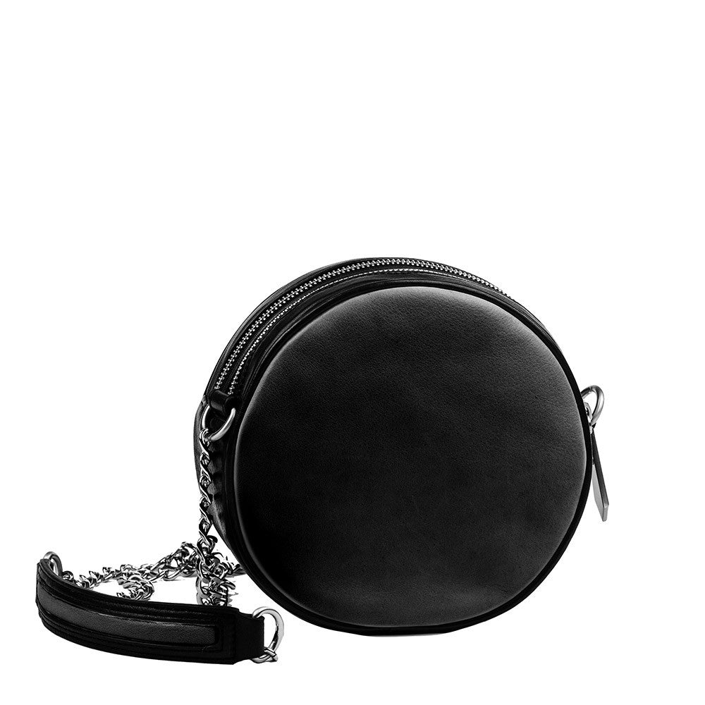 Linea Pelle Waldorf Canteen Bag in Black