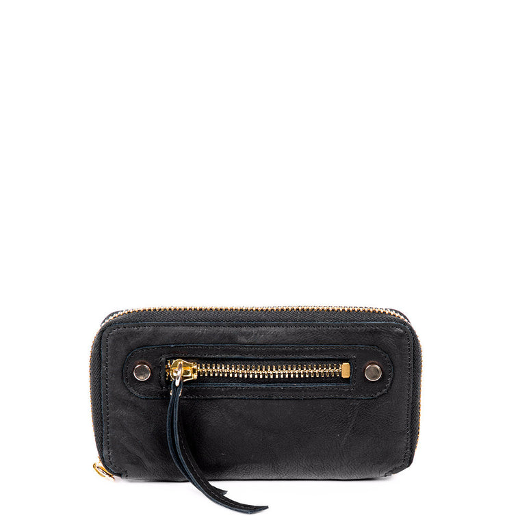 Linea Pelle Walker Wallet in Washed Black