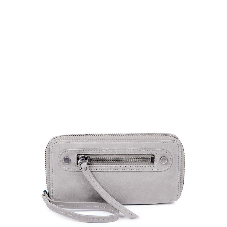 Linea Pelle Walker Wallet in Washed Grey