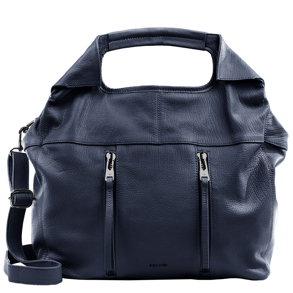 Linea Pelle Wyatt Large Tote Bag in Navy