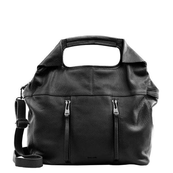 Linea Pelle Wyatt Small Tote Bag in Black