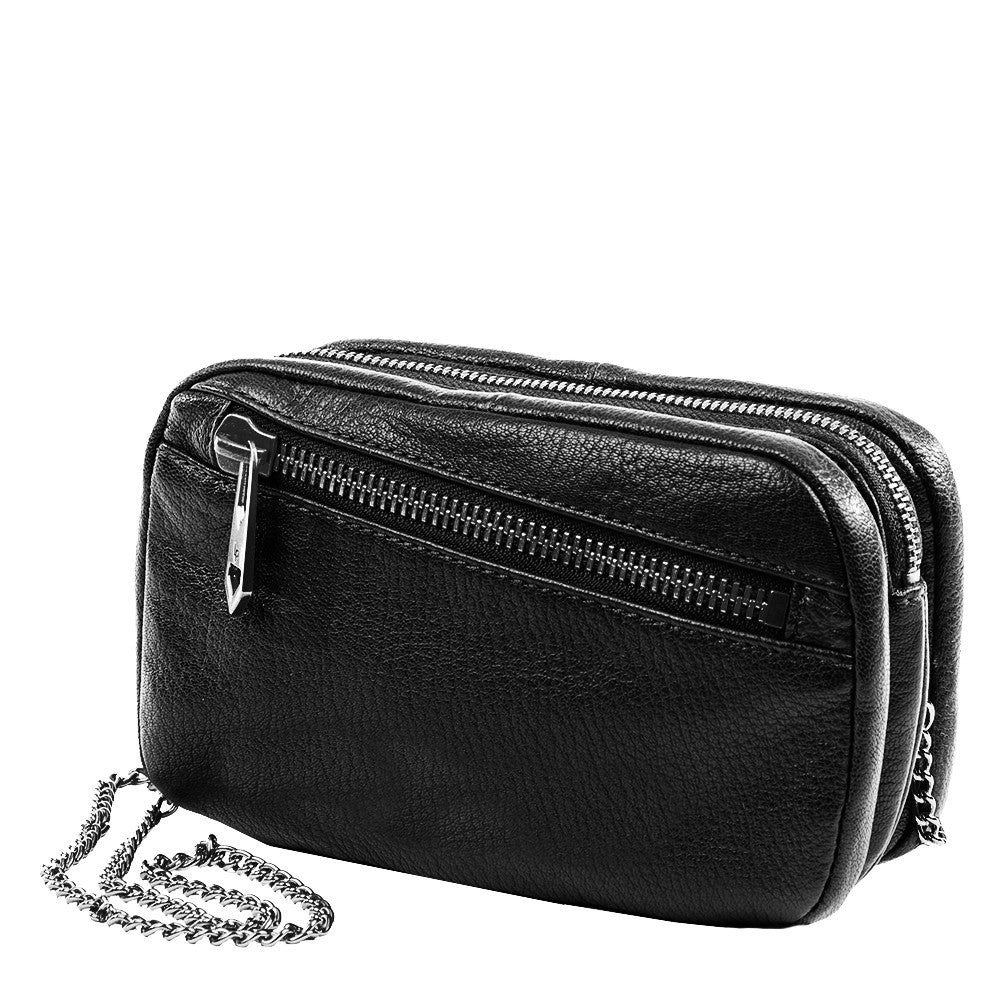 Linea Pelle Wyatt Crossbody in Black