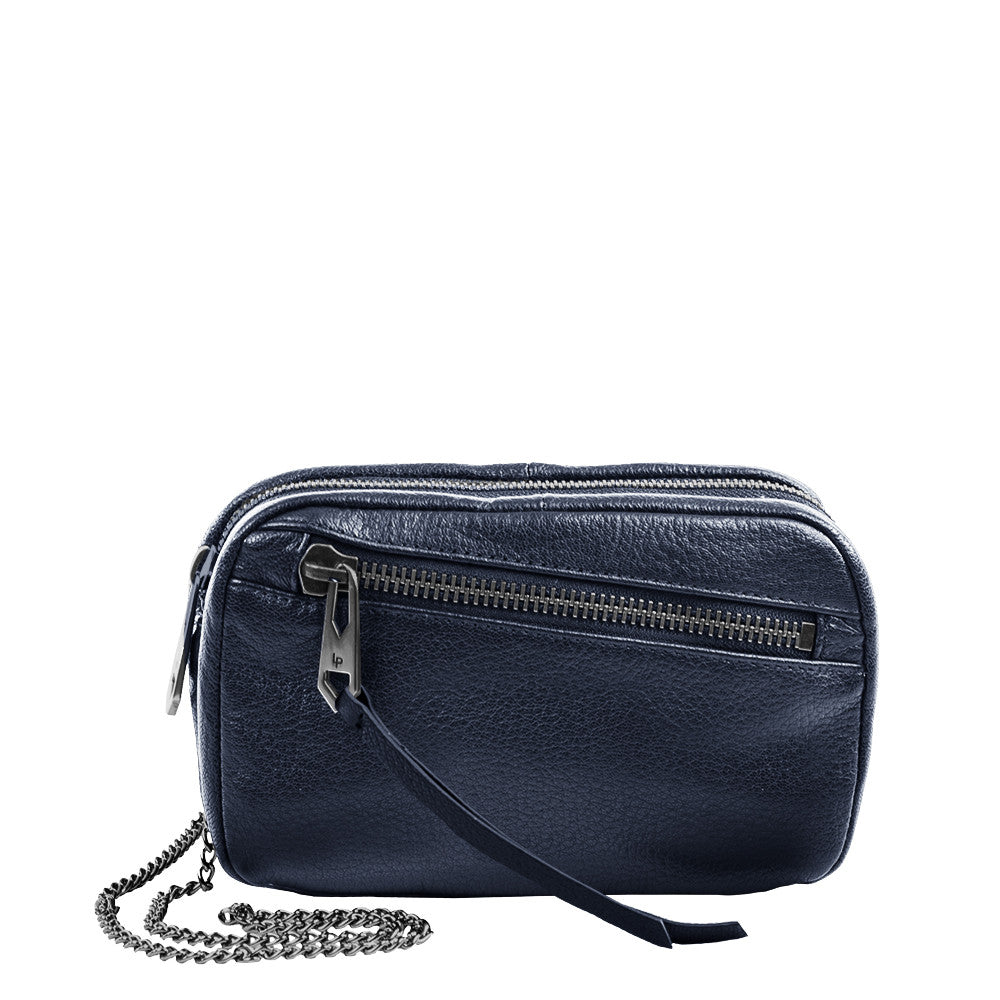 Linea Pelle Wyatt Crossbody in Navy