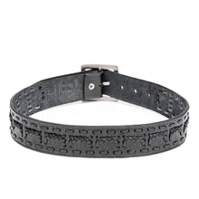 Load image into Gallery viewer, Linea Pelle Men's Square Buckle Belt in Black