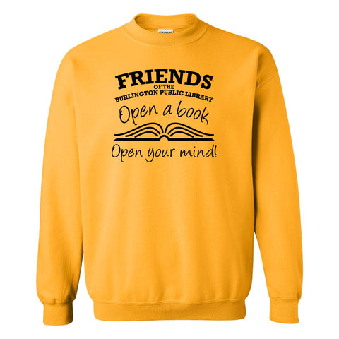 Friends of the Library Gold Crewneck Sweatshirt