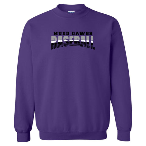 Mudd Dawgs 2020 Purple Baseball Crewneck Sweatshirt