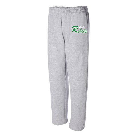 Lady Rebels Open Bottom Sweatpants