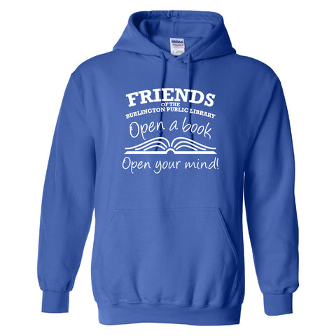 Friends of the Library Royal Hooded Sweatshirt