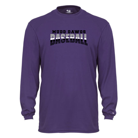 Mudd Dawgs 2020 Purple Baseball Badger B-Core Long Sleeve T-Shirt