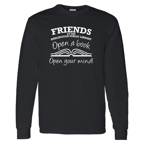 Friends of the Library Black Longsleeve Shirt