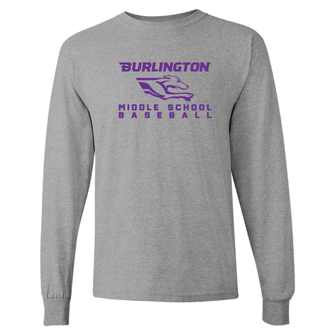 Burlington Middle School Baseball Longsleeve Shirt