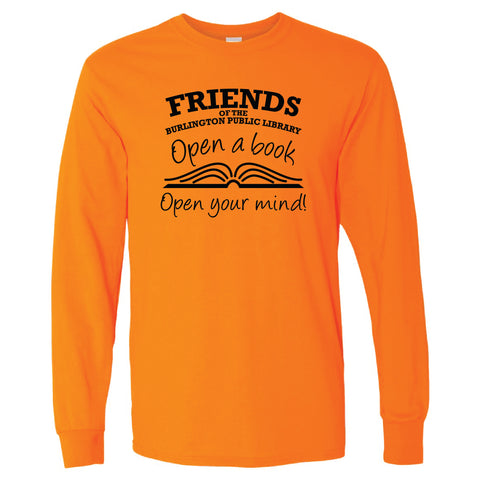Friends of the Library Orange Longsleeve Shirt
