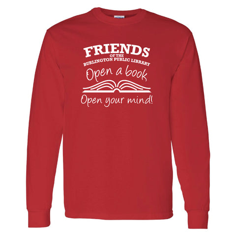 Friends of the Library Red Longsleeve Shirt