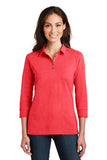 F&M Bank Ladies 3/4 Sleeve Meridian Cotton Blend Polo