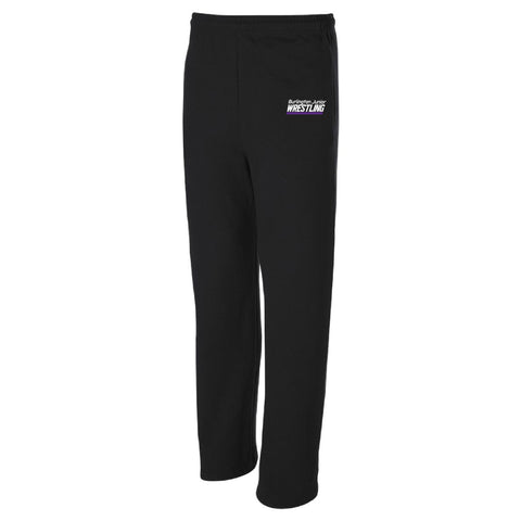 Burlington Junior Wrestling 2020 JERZEES NuBlend Open Bottom Sweatpants with Pockets