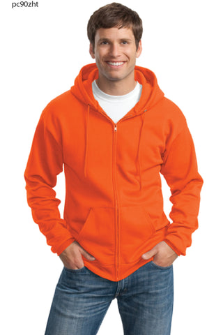 FYE Excavating Port and Company Full Zip Hooded Sweatshirt- TALL