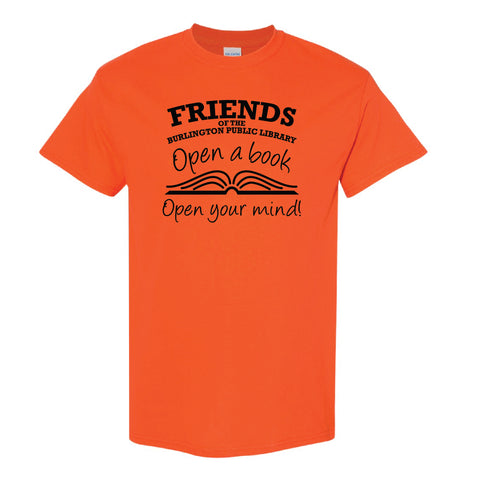 Friends of the Library Orange T-Shirt