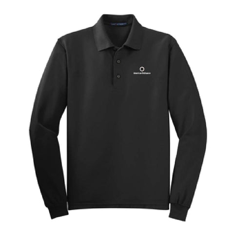 American Ordnance Embroidery - Port Authority Silk Touch Long Sleeve Polo