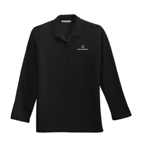 American Ordnance Embroidery - Ladies Port Authority Silk Touch Long Sleeve Polo
