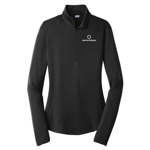 American Ordnance Embroidery - Competitor PosiCharge Ladies 1/4 Zip Pullover