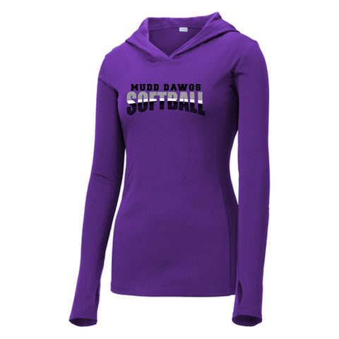 Mudd Dawgs 2020 Purple Softball Sport-Tek PosiCharge Competitor Hooded Pullover