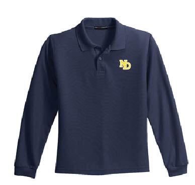 ND Youth & Adult (Men's) Long Sleeve Polo