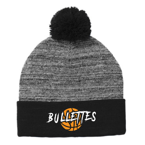 Bullettes Basketball Club 2020 Sport-Tek Heather Pom Pom Beanie